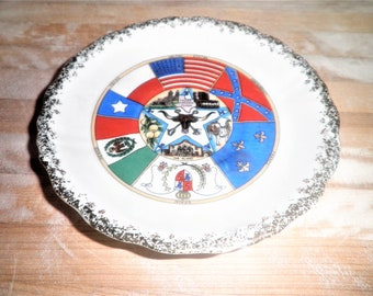 Vintage N.B.Co. Sa.Texas made in japan 5 1/2 inch plate