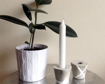 Modern Cement Candle Holder
