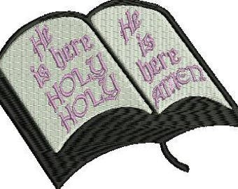 bible machine embroidery design