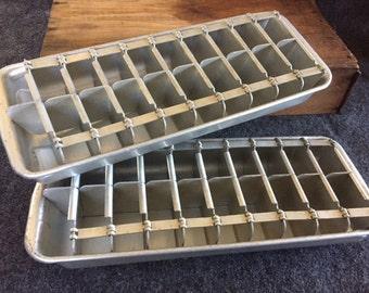 metal ice tray etsy. Black Bedroom Furniture Sets. Home Design Ideas