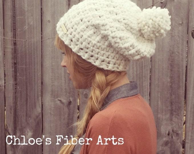 Bulky Crochet Slouchy Beanie, slouchy beanie, crochet beanie, bulky hat