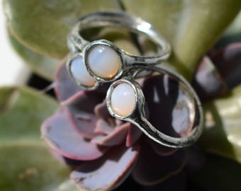 Beautiful faux opal rings // many sizes available