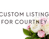 Custom Listing for Courtney / Custom Design Invitation, RSVP, and Details card