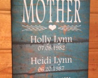 Mothers Day Personalized My Greatest Blessings Call Me Mom Mother Grandma Wood Sign or Canvas Wall Art- Valentines Day, Christmas, Birthday