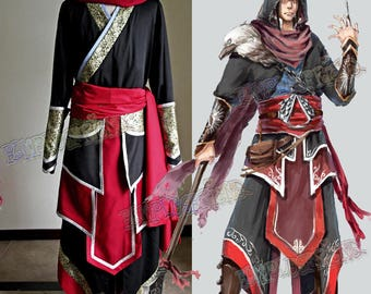 Assassin's Creed Cosplay, Ezio Auditore Costume Outfit Set