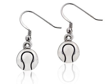 Sterling Silver  Tennis Ball Earrings, Tennis Dangle Earrings, Tennis Jewelry, Tennis Player Gift