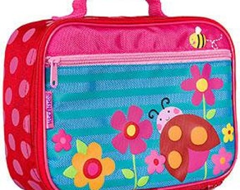 Lady Bug and Bee Stephen Joseph Monogrammed Lunch Box for Girls