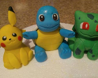4 Pokemon for 35 dollars July sale! (Any Pokemon but dragon or legendary type) Pikachu and friends cake toppers.
