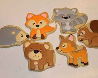 woodland animal cookies (12)