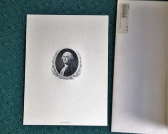 Vintage President George Washington Bureau of Engraving & Printing Portrait W/Original Envelope