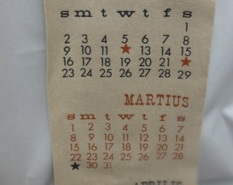 Vintage 1964 Long Felt Calendar/San Francisco Design