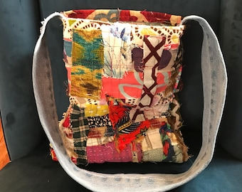 Scrap Fabric Tote Bag by CS
