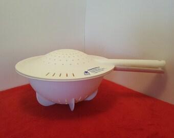 Vintage tupperware strainer colander with lid, promotional tupperware