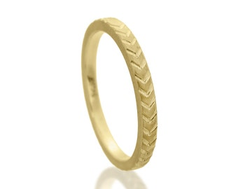 Gold wedding ring, 14k gold ring, 18k gold ring, Yellow gold ring, Personalized wedding band, Women wedding ring, Textured gold ring