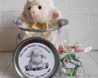 I Love Ewe - Soft Toy & Chocolates - Novelty Easter Gift - Alternative Easter Present