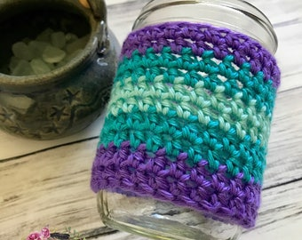 RTS / Mason Jar Cozies / Coffee Cozie / Tea Cozie / Tumbler Cozie / Crochet Cozie / Mason Jar Cozie