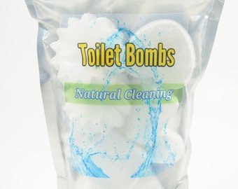Natural Cleaning Toilet Bombs - Toilet Bowl Cleaning Products, Deodorizing Scrubbies, Chemical Free Cleaning Tablets, Deodorizer Frizzes