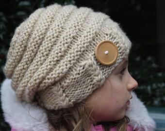 Slouchy Beehive Hat Handmade Hat Warm Hat Winter Slouchy Hat Women Beanie hat Womans Hat Women Hat Women Knit Hat
