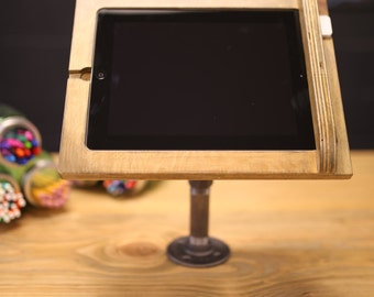4th Gen iPad Register Stand for Square Reader, Industrial Chic