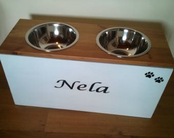 Big Dog feeding storage  station , big dog bowls, dog food dish, dog food bowls, elevated dog dish, pet feeding station