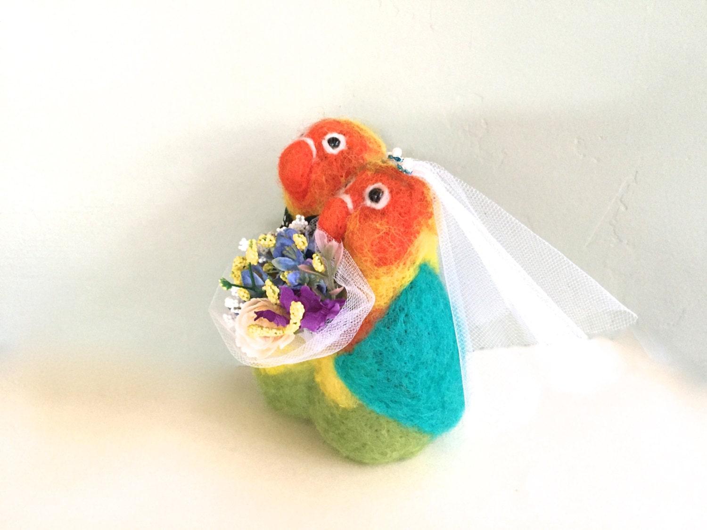 Love birds wedding cake topper love birds lovebird bride and