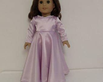 18 inch Girl Doll Clothing, handmade to fit American Girl Dolls, (Dress is lavender) d-16a