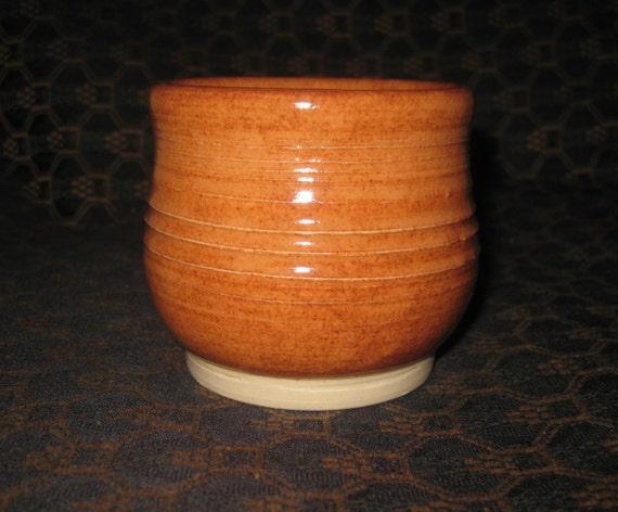 Dark apricot mug multi purpose handleless cup handmade - Handleless coffee mugs ...