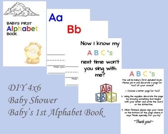 DIY Baby Shower Alphabet Book Pages