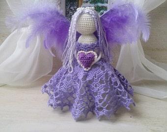 Angel, crochet angel, angel ornament, guardian angel, angel statue, name angel, angel amigurumi, crochet angel, angel toy. Christmas angel