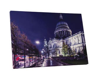 Castles and Cathedrals London St Paul's Cathedral Gallery Wrapped Canvas Print