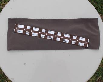Chewbacca running headband 3 inches wide