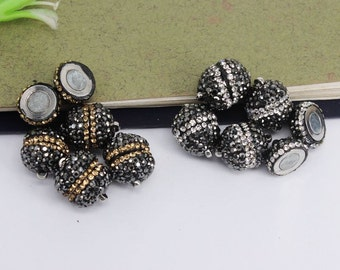 10-20pcs Crystal Rhinestone Strong Magnetic Clasps for making Leather Bracelet jewelry findings