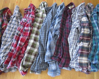Vintage Thrifted Oversized Flannel Plaid Shirt Your Choice