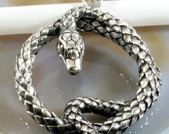 Snake,  pendant, 925 sterling silver - 4458