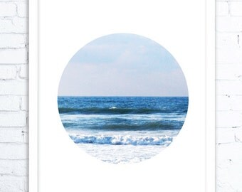 Ocean Art Print, Abstract Art Blue, Wall Art Coastal, Landscape, Gift for Friend, Modern Home Decor, Wall Art Photo, Ocean Print, Ocean