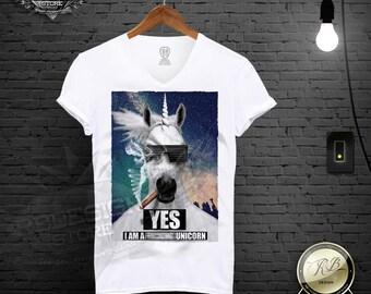 Men's Unicorn Tshirt / Mens Unicorn shirt / Unicorn Tank Top / Funny Unicorn t shirt / Tee Shirt / Mens festival clothing Funny tshirt MD113