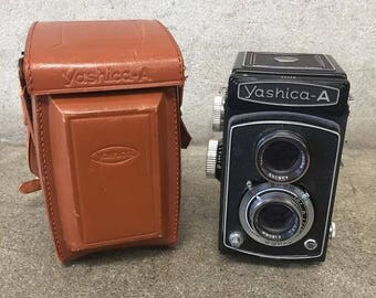 Vintage Yashica-A Camera With Leather Case (EPGV8C)