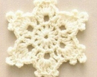 Small Crochet Snowflake Accessory Decoration, 50 x 8cm, Various Colours, Free Shipping
