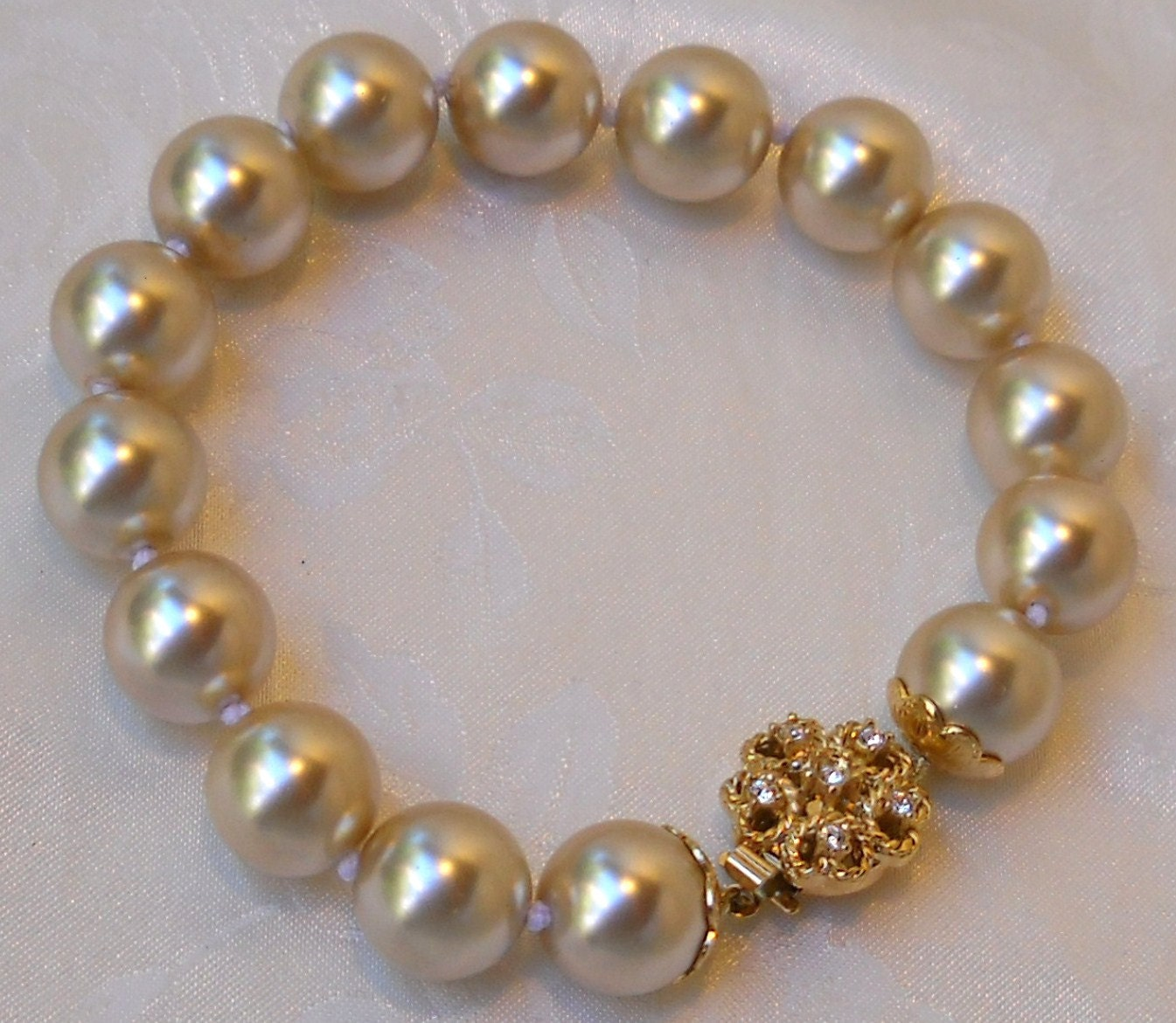 Mallorca Pearl Necklace: Majorca/Mallorca Pearl Bracelet Single Strand 7.5 12mm