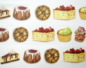 Cakes Limited Edition Washi Tape/Deco Masking Tape/Planner Sticker/ Deco tape  TZ1295