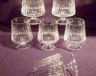 Set of 6 Hand-Made German Cut Crystal Schnapps, Liqueur Glasses
