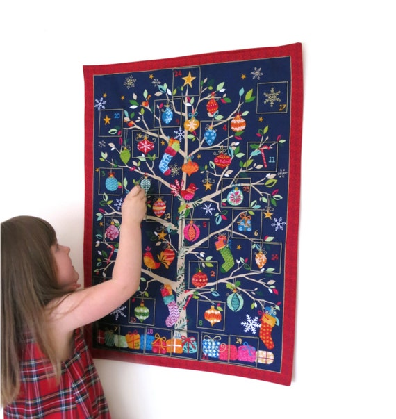Fabric Hanging Advent Calendar