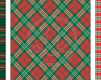 "SISER Christmas PLAID Pattern HTV 12"" x 15"" Sheets...Choose your Pattern!"