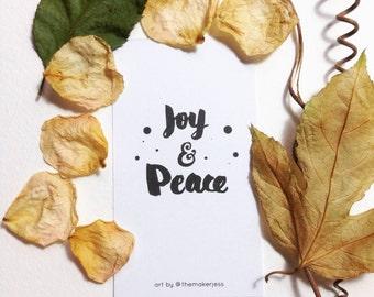 Joy & Peace Mini Bookmark (Pack of 10)