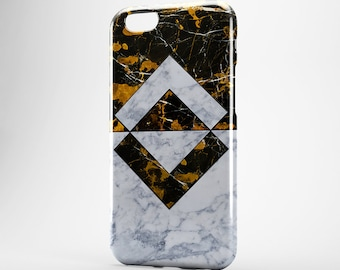 Marble iPhone 7 Case, Geometric 7 Plus, Gold Black Marble, Geometric Marble, Gold Marble iPhone, Marble 6 Plus Case, iPhone 6 Case, iPhone 5