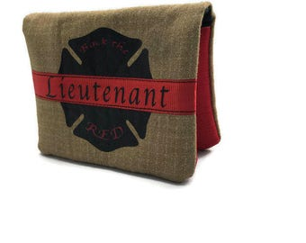 Firefighter Turnout gear wallet, Turnout Gear Accessories, Firefighter Gift, Maltese cross Wallet, Custom Wallet, Fire Dept Wallet