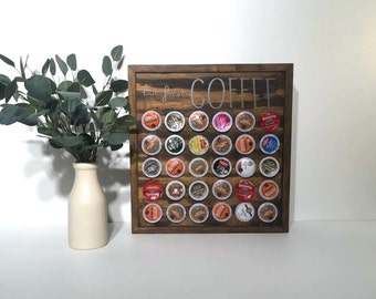 But First Coffee | Coffee Gift | Coffee Pod Storage Holder | Coffee Storage | Coffee Organization | Coffee Bar | Kitchen Organization
