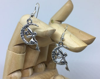 Silver Fairy Earrings, Fairy Earrings, Silver Earrings, Flower Fairy, Silver Fairy, Faerie Earrings, Luna Earrings, Flower Fairies