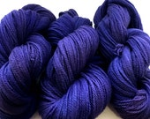 Hand Dyed Violet Yarn Cormo Wool 4 Ply Fingering Weight  300g