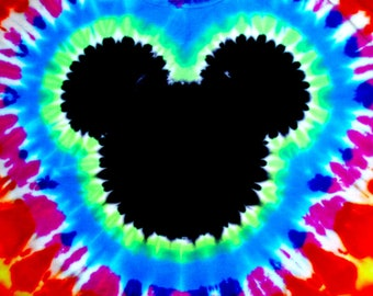 The ORIGINAL Custom 2-Sided Mickey Mouse Famous Hand Made Tie-Dye from Heavenly Daze family shirts! child 2T to adult 6XL Kid to Plus sizes